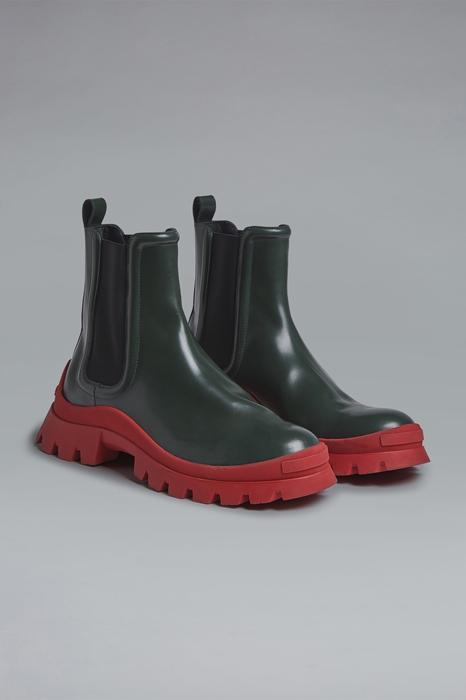 DSQUARED2 Men Boot Dark green Size 7 100% Calfskin