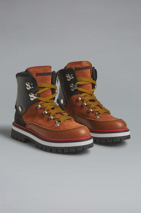 DSQUARED2 Men Boot White Size 9C 69% Calfskin 31% Polyamide