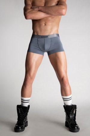 DSQUARED2 Men Boxer Grey Size S 90% Modacrylic 10% Elastane