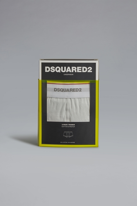 DSQUARED2 Men Boxer Ivory Size XL 95% Cotton 5% Elastane