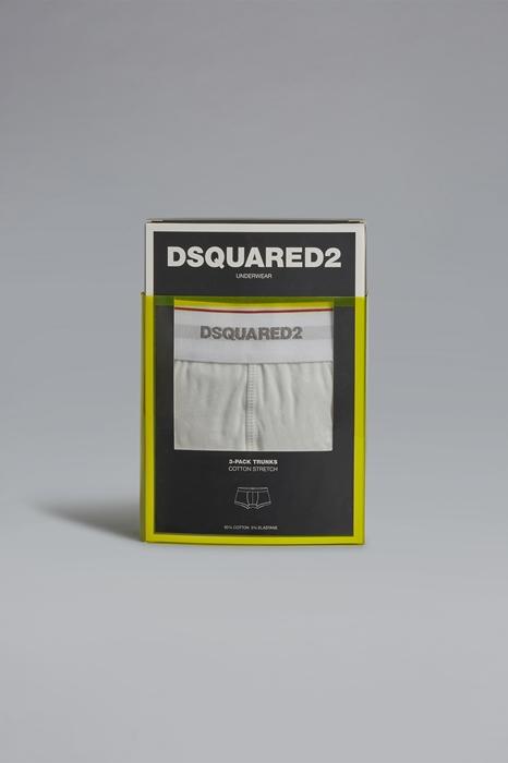 DSQUARED2 Men Boxer Ivory Size XXL 95% Cotton 5% Elastane