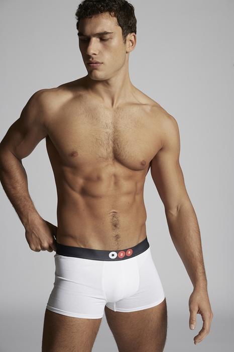 DSQUARED2 Men Boxer White Size XS 94% Cotton 6% Elastane