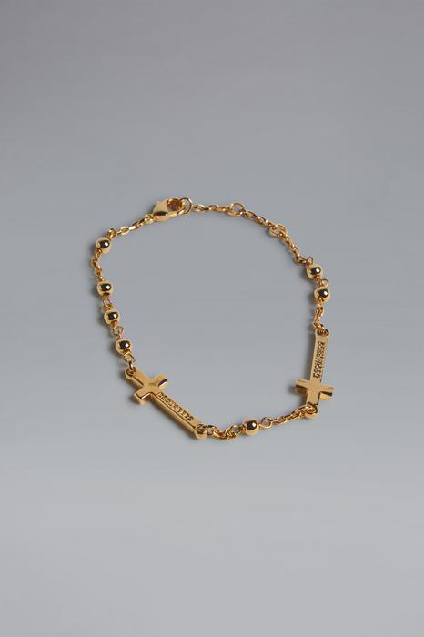 DSQUARED2 Men Bracelet Gold Size M 72% Brass 23% Tin 5% ABS - Acrylonitrile Butadiene Styrene