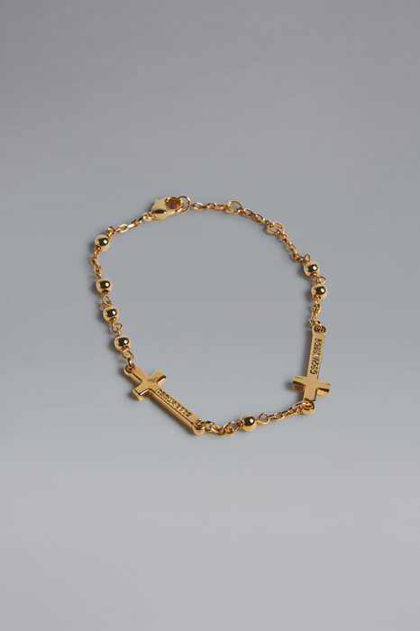 DSQUARED2 Men Bracelet Gold Size S 72% Brass 23% Tin 5% ABS - Acrylonitrile Butadiene Styrene