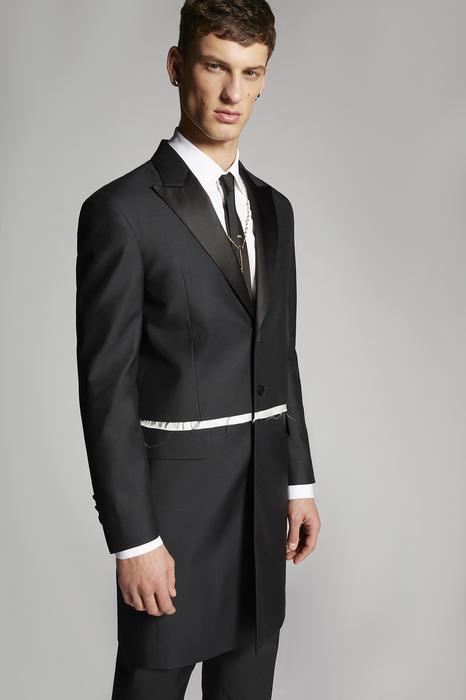 DSQUARED2 Men Coat Black Size 46 65% Virgin Wool 35% Silk