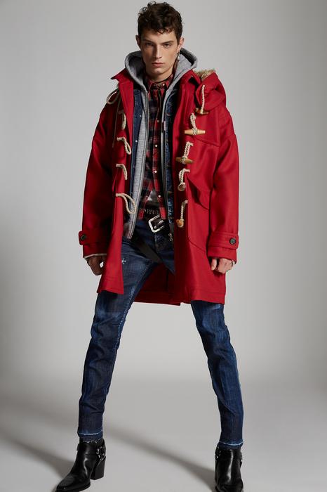 DSQUARED2 Men Coat Red Size 40 79% Virgin Wool 20% Nylon 1% Elastane