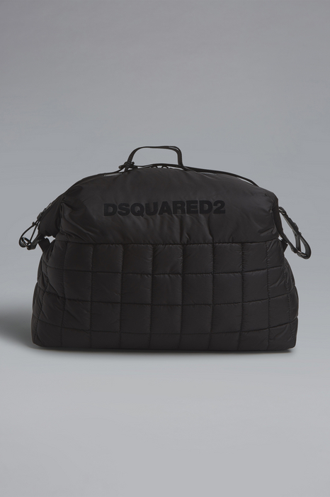 DSQUARED2 Men Duffle Black Size OneSize 98% Polyamide 2% Bovine leather