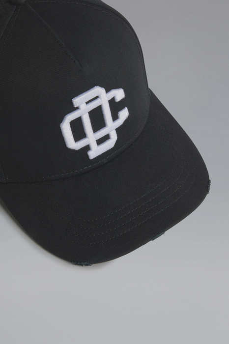 DSQUARED2 Men Hat Black/White Size OneSize 100% Cotton