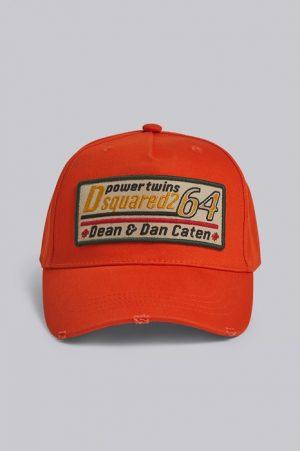DSQUARED2 Men Hat Orange Size OneSize 100% Cotton