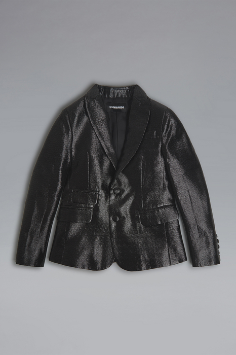 DSQUARED2 Men JACKET/BLAZER Black Size 10 47% Metallic Fiber 27% Polyester 26% Nylon