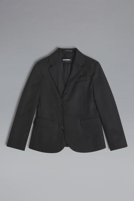 DSQUARED2 Men JACKET/BLAZER Black Size 6 55% Polyester 44% Wool 1% Elastane