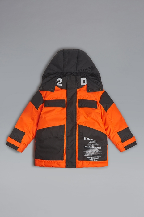DSQUARED2 Men JACKET/BLAZER Orange Size 6 100% Polyester Polyurethane coated