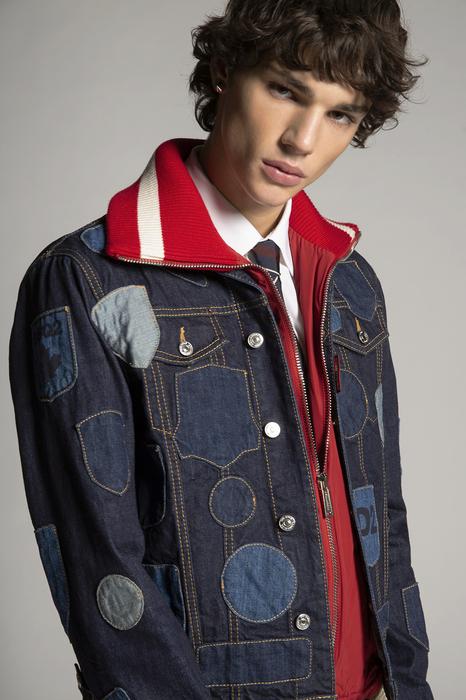 DSQUARED2 Men Jacket Blue Size 40 100% Cotton