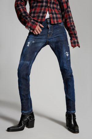 DSQUARED2 Men Jeans Blue Size 38 98% Cotton 2% Elastane