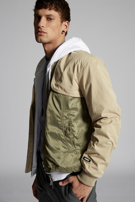 DSQUARED2 Men Kaban Beige Size 44 97% Cotton 3% Elastane Polyester