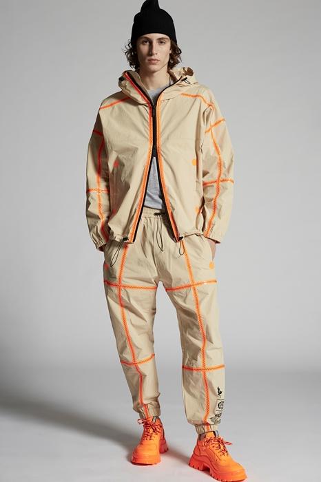 DSQUARED2 Men Kaban Beige Size L 100% Cotton