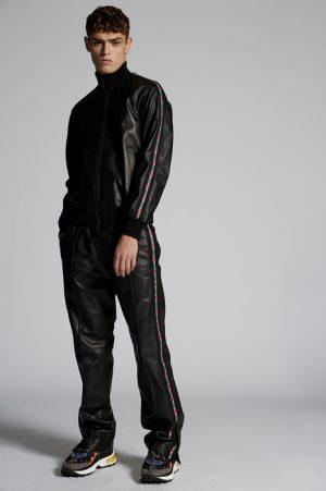 DSQUARED2 Men Kaban Black Size 38 100% Lambskin