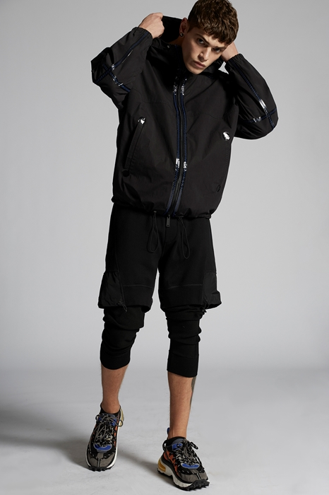 DSQUARED2 Men Kaban Black Size XS 100% Cotton
