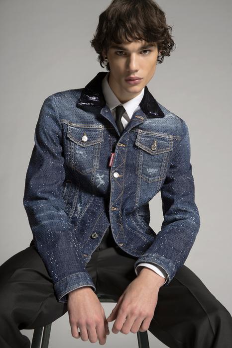 DSQUARED2 Men Kaban Blue Size 36 98% Cotton 2% Elastane Glass