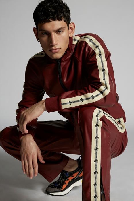 DSQUARED2 Men Kaban Maroon Size 42 100% Lambskin