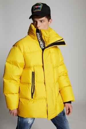 DSQUARED2 Men Kaban Yellow Size 36 100% Polyamide