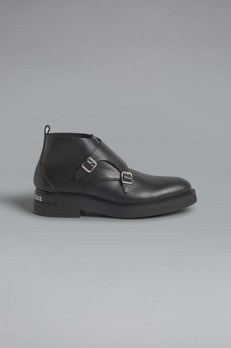 DSQUARED2 Men Laced shoe Black Size 7 100% Calfskin