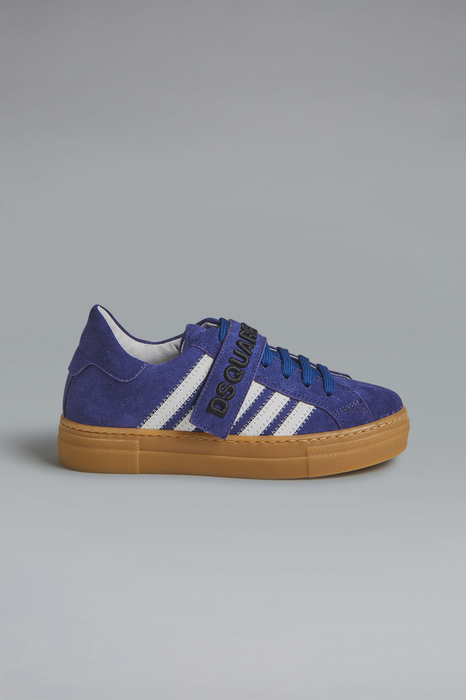 DSQUARED2 Men Laced shoe Blue Size 4Y 100% Calfskin