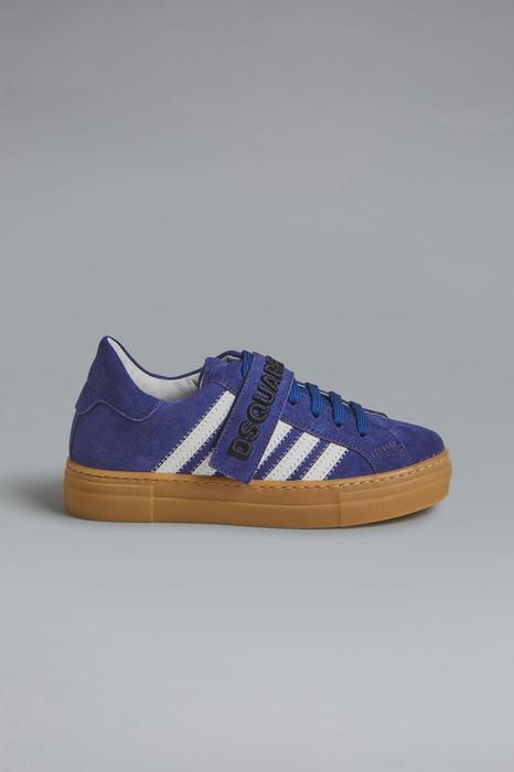 DSQUARED2 Men Laced shoe Blue Size 5Y 100% Calfskin