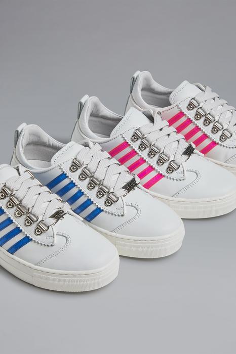 DSQUARED2 Men Laced shoe White Size 9C 88% Calfskin 9% Polyurethane 2% Polyester 1% Cotton