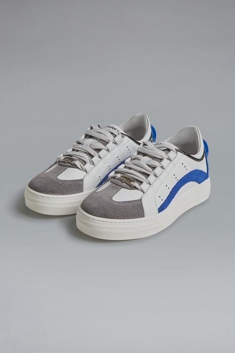 DSQUARED2 Men Laced shoe White Size 9C 90% Calfskin 7% Polyurethane 2% Polyester 1% Cotton
