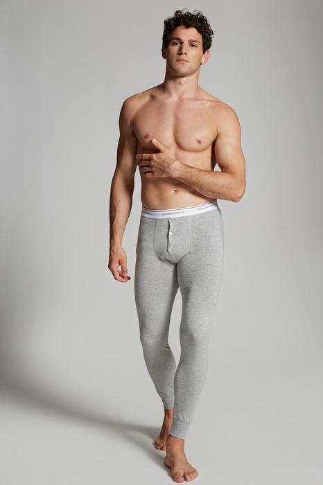 DSQUARED2 Men Long John Grey Size L 95% Cotton 5% Elastane