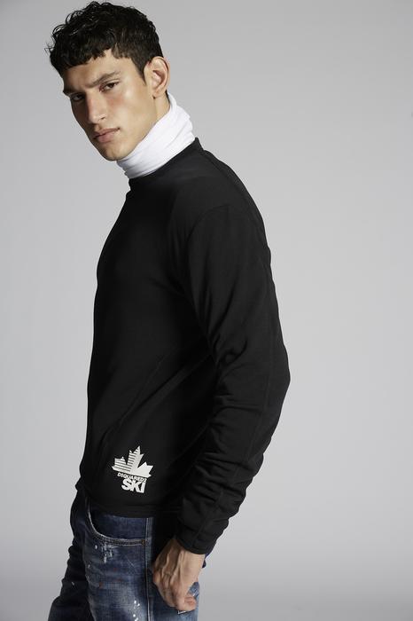 DSQUARED2 Men Long sleeve t-shirt Black Size XL 95% Polyester 5% Elastane