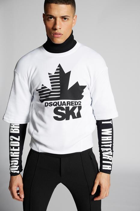 DSQUARED2 Men Long sleeve t-shirt White Size M 95% Polyester 5% Elastane
