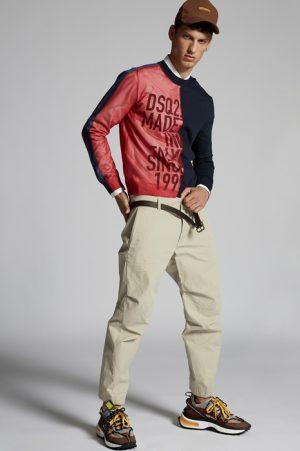 DSQUARED2 Men Pants Beige Size 34 100% Cotton