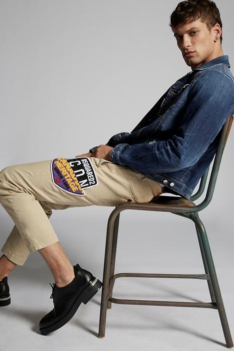 DSQUARED2 Men Pants Beige Size 38 98% Cotton 2% Elastane
