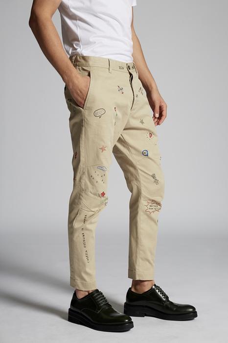DSQUARED2 Men Pants Beige Size 40 97% Cotton 3% Elastane