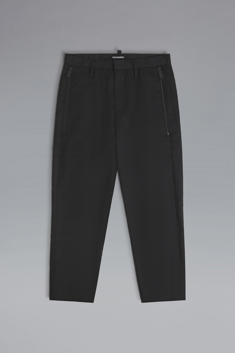 DSQUARED2 Men Pants Black Size 12 55% Polyester 44% Wool 1% Elastane