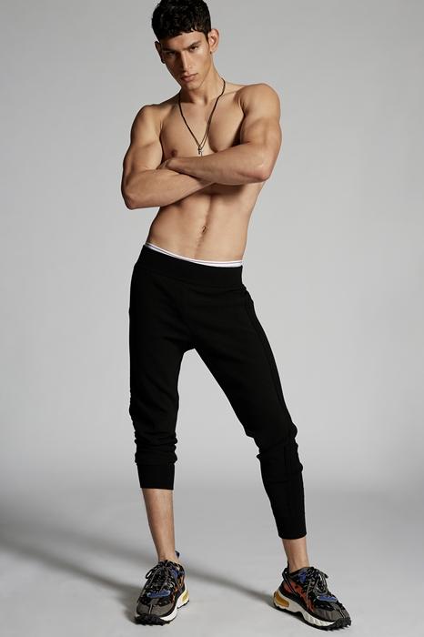 DSQUARED2 Men Pants Black Size 3XL 54% Viscose 24% Polyester 20% Polyamide 2% Elastane