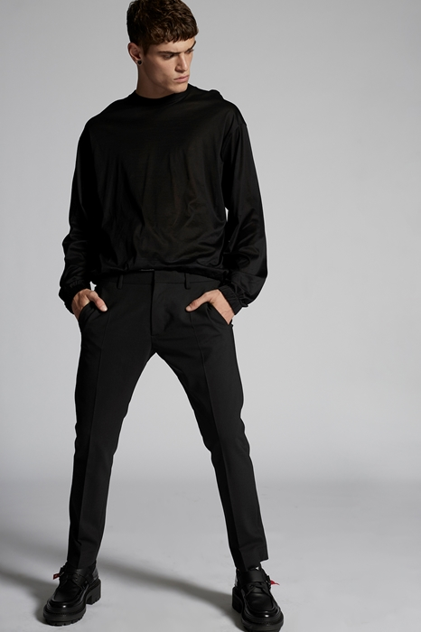 DSQUARED2 Men Pants Black Size 40 53% Polyester 43% Virgin Wool 4% Elastane
