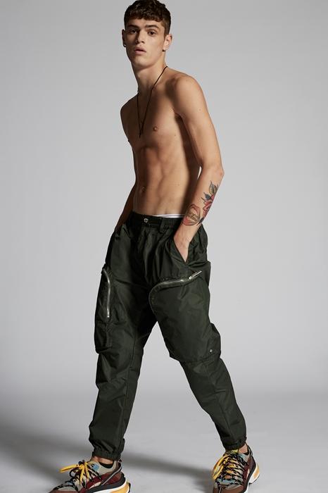 DSQUARED2 Men Pants Dark green Size 36 100% Polyamide