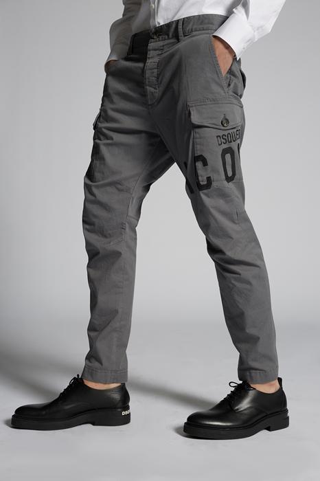 DSQUARED2 Men Pants Grey Size 28 97% Cotton 3% Elastane