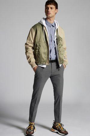 DSQUARED2 Men Pants Grey Size 30 53% Polyester 43% Virgin Wool 4% Elastane