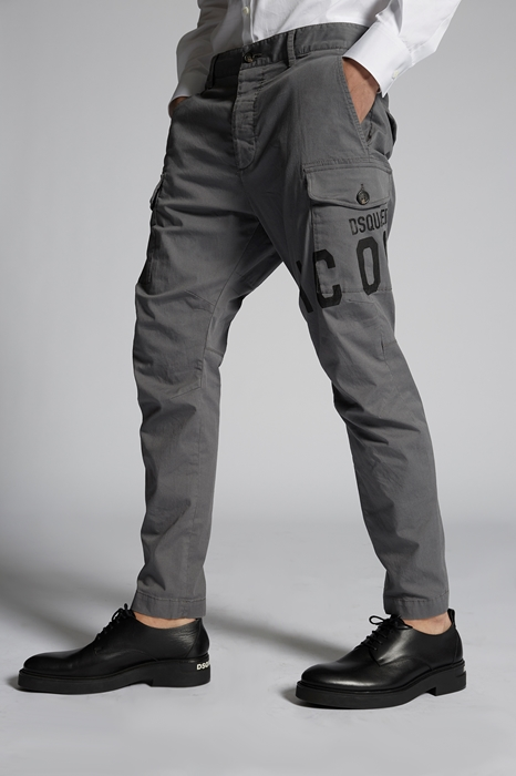 DSQUARED2 Men Pants Grey Size 36 97% Cotton 3% Elastane