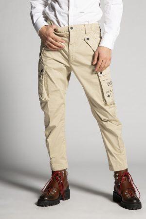 DSQUARED2 Men Pants Sand Size 34 97% Cotton 3% Elastane
