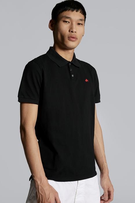 DSQUARED2 Men Polo shirt Black Size 3XL 100% Cotton