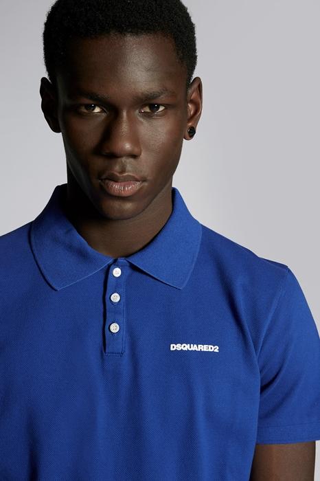 DSQUARED2 Men Polo shirt Bright blue Size M 100% Cotton