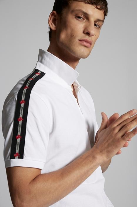 DSQUARED2 Men Polo shirt White Size 3XL 100% Cotton