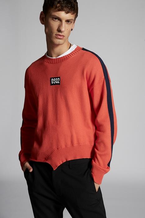 DSQUARED2 Men Pullover Orange Size XXL 100% Cotton