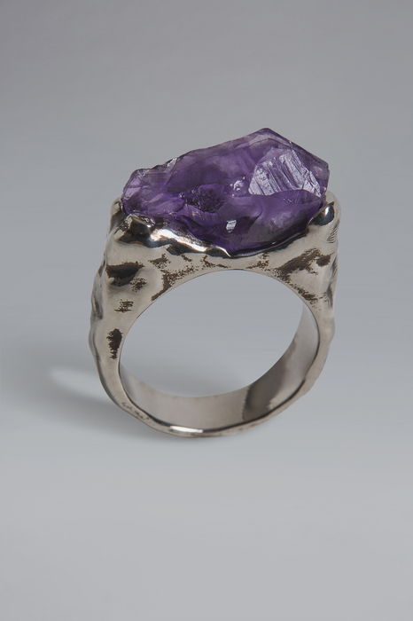 DSQUARED2 Men Ring Silver Size L 98% Tin 2% Resin