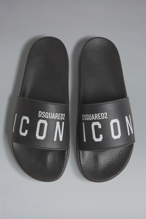 DSQUARED2 Men Sandal Black Size 11 100% Thermoplastic polyurethane